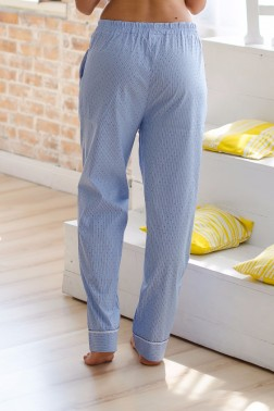 Домашние штаны  с кружевной отделкой