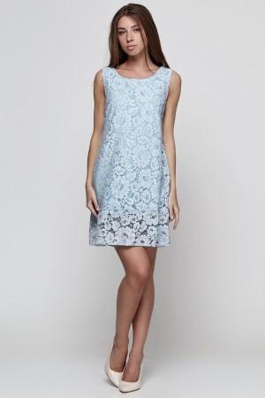 Платье-колокольчик из кружевного полотна