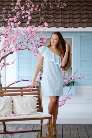 Платье из василькового шитья