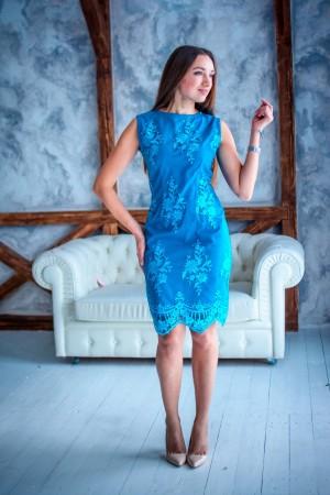 Платье из кружева цвета морской волны