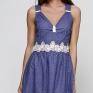 Платье из батиста с вышивкой и кружевом