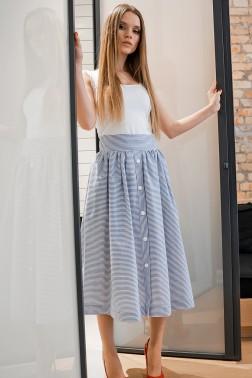 Комплект юбка в полоску и топ