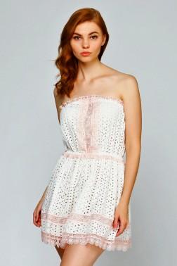 Пляжное платье с цветными кружевами