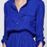 Платье из синей вискозы