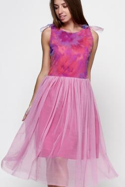 Платье из розовой сетки Василек