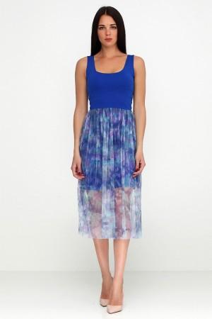 Платье из сетки Синие узоры
