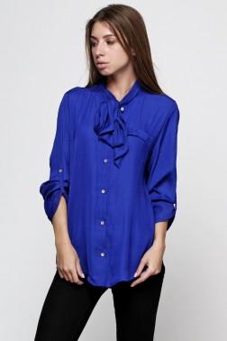 Блузка из синей вискозы
