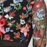 Платье с вышивкой Аленький цветочек
