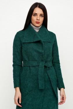 Зеленое пальто из мохера
