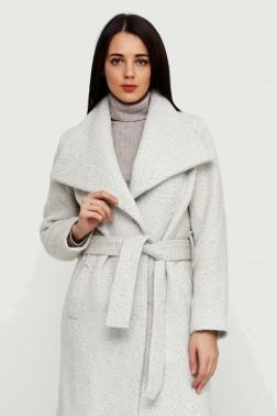 Фактурное шерстяное пальто