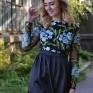 Платье с вышивкой Васильки