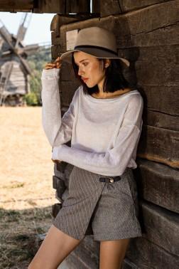Асимметричная юбка-шорты