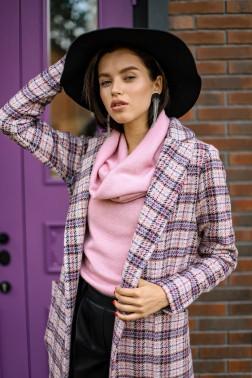 Пальто в розовую клетку