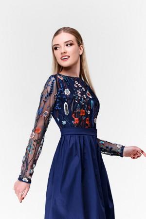 Платье с вышивкой Цветочный лес