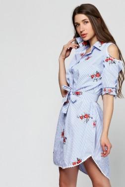 Платье рубашка с вышивкой