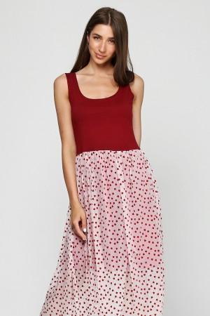 Платье из сетки Сердечки