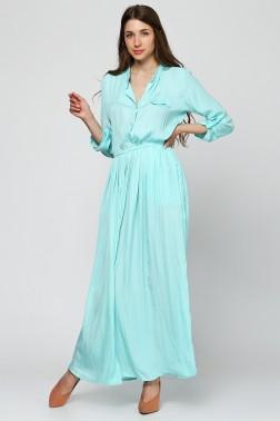 Платье из мятной вискозы