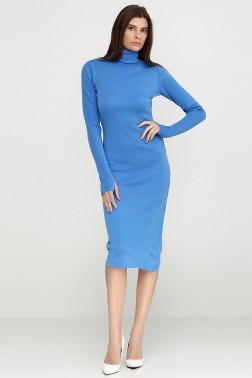 Сине-голубое платье-гольф