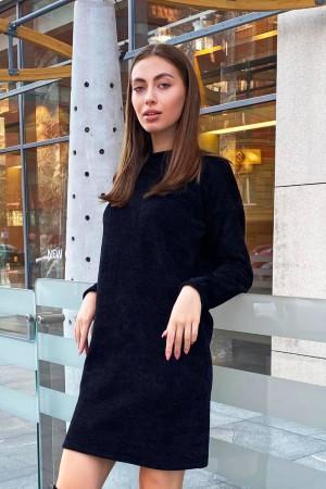 Черное платье из текстурной ткани