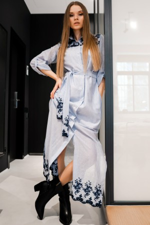 Батистовое платье рубашка в пол