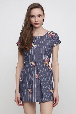 Джинсовое платье с вышивкой Вербена