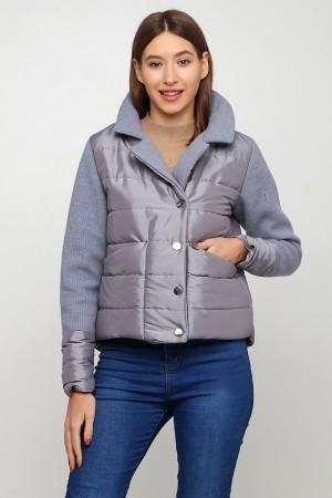 Короткая серая куртка