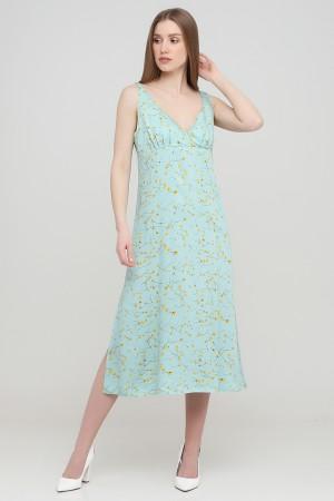 Зеленое платье-комбинация примула