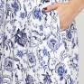 Платье с вырезом лодочки гжель
