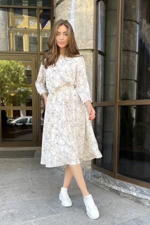 Молочное платье Лилия