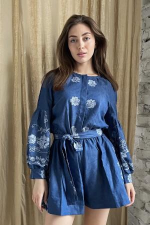Комбинезон с вышивкой цветы льна