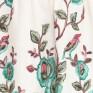 Платье из молочного льна с вышивкой на спинке