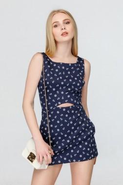 Платье-комбинезон с принтом якоря