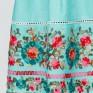 Платье из изумрудного льна с вышивкой