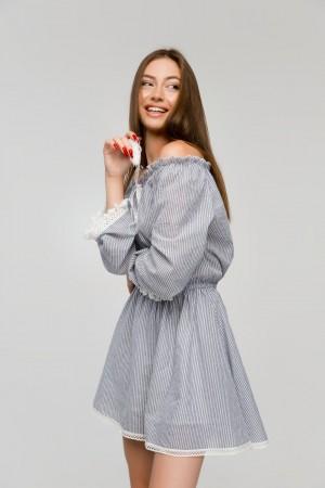 Платье-комбинезон в полоску