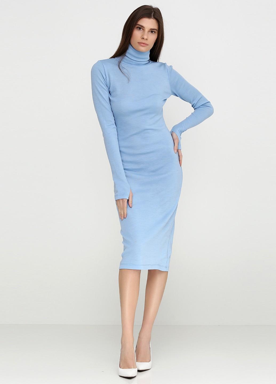 b5be1e0ac74 Светло-голубое платье-гольф П9750